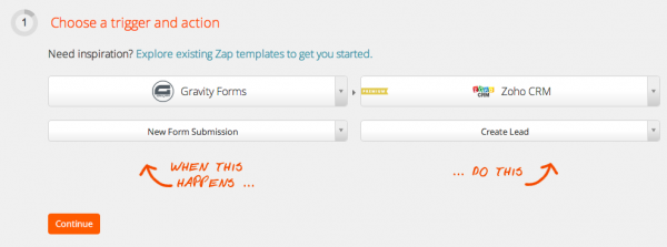 Making Your Gravity Forms Work For You | Create a New Zap