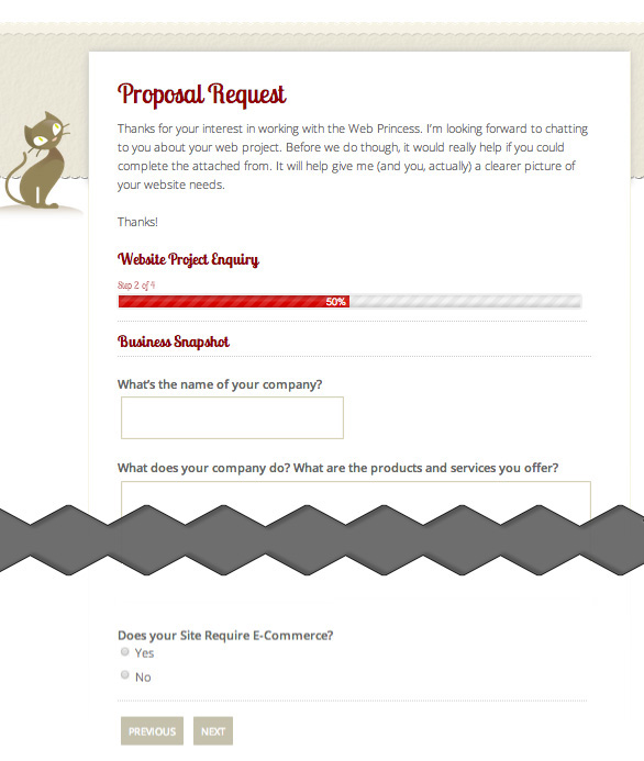 Proposal Request Form